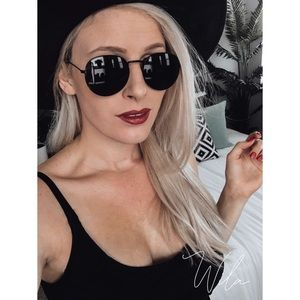 Accessories - Black metal frame sunglasses rounded